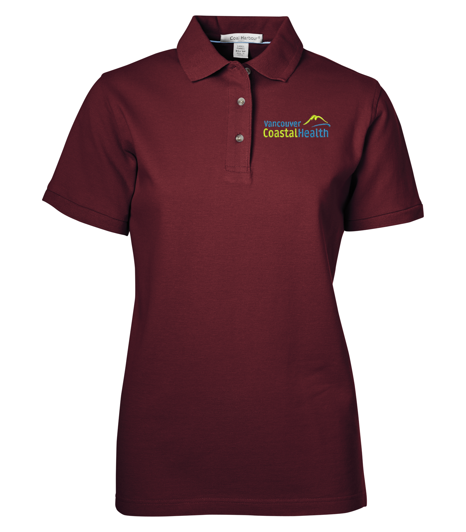 Coal Harbour® Ladies Cotton Polo - Burgundy