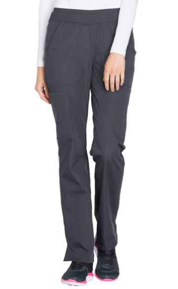 Cherokee® Women's Mid Rise Straight Leg Cargo Pant - Charcoal